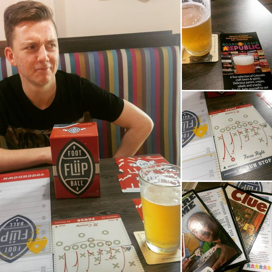 Mark and Diceboy Will tried Fliip Football at Boardgame Republichellip